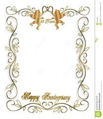 Anniversary Invitation Cards Samples Wedding Invitation Gold 50th Stock Images Image 5814894