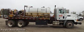 mud truck for sale 2002 mack ch613 flatbed truck with mud mixer item dc6385