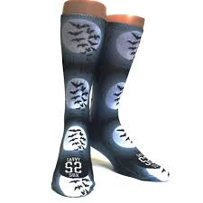 full moon and bats halloween socks u2013 savvy sox