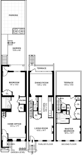 example of fitting living and wet rooms into small narrow house