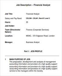 Financial Analyst Job Description Resume by Analyst Job Description Example Of Financial Business Analyst Job