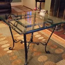 wrought iron end tables best 1 glass top wrought iron end tables for sale in nashville