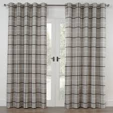 Grey Plaid Curtains Rugs Curtains Charcoal Gray Blackout Plaid Curtains For