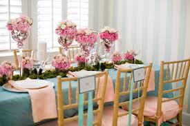 pink wedding flower centerpiece silver vase