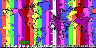 utc zone map map of earth s timezones