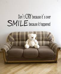inspirational quotes wall decals inspirational wall stickers vinyl wall decal sticker don t cry smile quote gfoster181