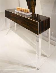 Lucite Console Table Grace Lucite Table Lucite Furniture That Sparkles Homeportfolio