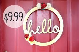 hello wood door wreath for 9 99 shesaved