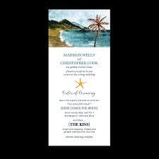 bling wedding programs wedding casual watercolor ceremony program