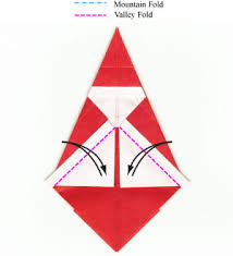 How To Make A Origami Santa - how to make a simple origami santa claus page 10