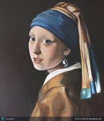 painting the girl with the pearl earring copy of the girl with the pearl earring by vermeer touchtalent
