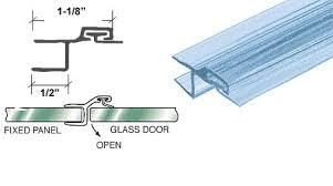 Shower Door Jamb Crl Polycarbonate Strike And Door H Jamb With Vinyl Insert For