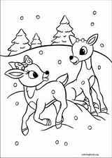 rudolph the red nosed reindeer coloring page 019 coloringbook org