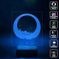 3d Lamps Amazon Amazon Com Cmlart Destiny Logo 3d Lamp Night Multi Color Change