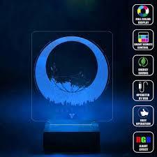 amazon com cmlart destiny logo 3d lamp night multi color change