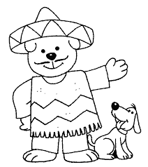 mexican coloring pages coloring page