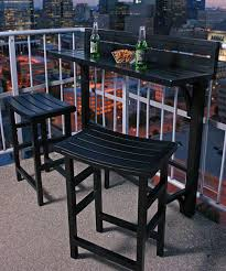 Black Outdoor Balcony Bar Set Zulily Home Life Outdoor