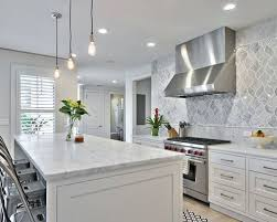 Farmhouse Backsplash Houzz - Country kitchen tile backsplash