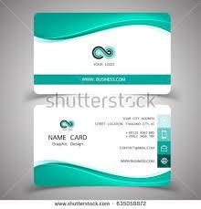 business card design set modern creative stock vector 635058890