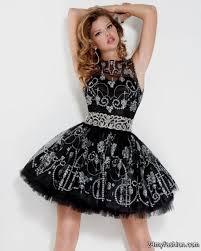 short prom dresses black and silver plus size prom dresses
