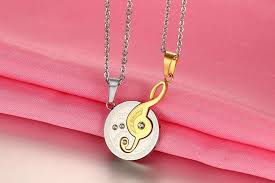 s day pendants necklace titanium steel pendant fashion melody