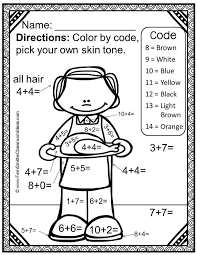 72 best color by number printables images on math