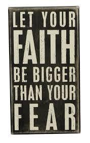 Faith Home Decor by Amazon Com Primitives By Kathy Box Sign 5 By 9 Inch Faith Be