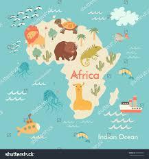 animals world map africa africa map stock vector 338165573