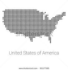 vector usa map vector dotted united states america map stock vector 653519752