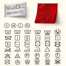 laundry line design set of textile care sign laundry care icons thin line design