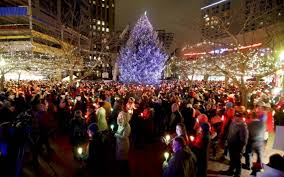 hundreds attend tree lighting in downtown boise idaho statesman