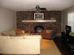 painted brick fireplace images paint ideas wall white mesmerizing
