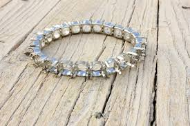 diy silver bracelet images Diy blank silver bracelet with ss39 8mm platinum settings sew etsy jpg