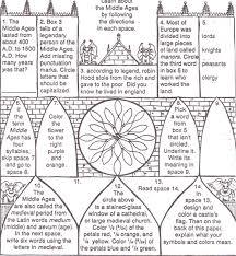 middle ages worksheet worksheets