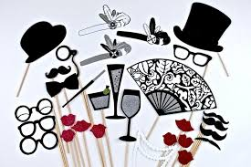 Wedding Photobooth 20s Photo Booth Props 1920s Great Gatsby Inspired Wedding