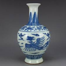 Chinese Hand Painted Porcelain Vases Hand Painted Chinese Blue And White Porcelain Vase W Cheng Hua