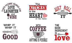 Kitchen Embroidery Designs Kitchen Cute Quotes Machine Embroidery Designs 4x4 5x7
