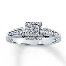 1 4 carat engagement ring jared ring 1 4 ct tw princess 10k white gold