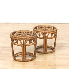 Rattan Accent Table Vintage Tables Used Tables In San Diego Los Angeles Orange