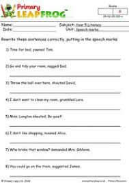 primaryleap co uk speech marks worksheet
