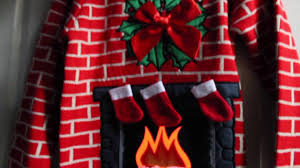 flashing fireplace light up christmas sweater youtube