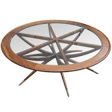 circle wood coffee table spider leg round coffee table transitional mid century modern
