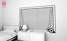 football goal post xxl wall decal nursery kids rooms wall decals football goal post wall decals xxl