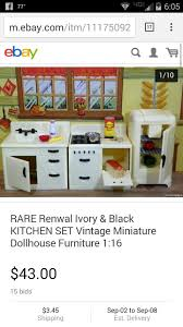 Dollhouse Furniture Kitchen 22 Best Vintage Metal Doll Houses And Their Furniture Images On