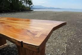 hand crafted live edge arbutus madrone slab table desk by
