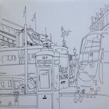 art illustration ink drawing london lordnelson tourists