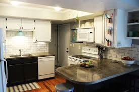 brick tile kitchen backsplash cabinets upper what is the cost of