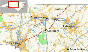 North Carolina State Map by North Carolina Highway 49 Wikipedia