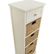 100 nightstand with wicker baskets three drawer wicker