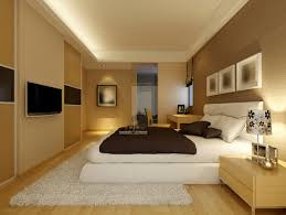 small master bedroom with tray ceiling design and wood furniture